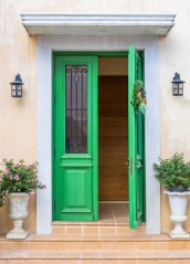 Green door European style